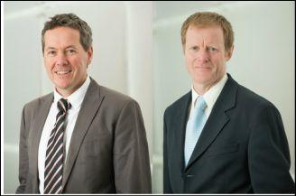 Professors Dale Godfrey (UniMelb) and Jamie Rossjohn (Monash)