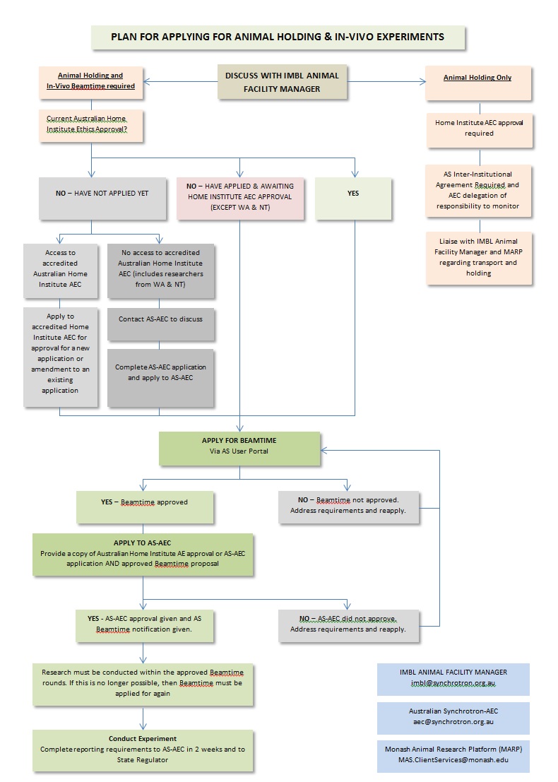 Animal ethics application flow chart