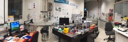 Figure 2 The Bruker V80v FT-IR spectrometer and Hyperion 2000 IR Microscope